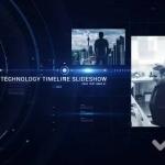 科技感高新企业发展时间线展示AE模板